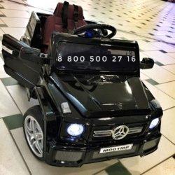 Электромобиль Мини гелик М001МР черный (глянцевая покраска, резиновые колеса, кожа, пульт, музыка)