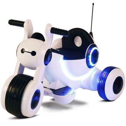 Детский электромотоцикл HL300 White 6V - HL300