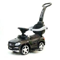 Толокар Mercedes-Benz GL63 A888AA с ручкой и качалкой (музыка, свет фар и колес, колеса резина, сиденье кожа)
