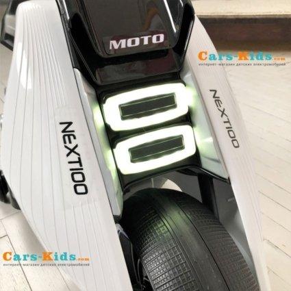 Электромотоцикл BMW Vision Next 100 - BQD-6188-WHITE (широкие колеса, музыка, свет фар)