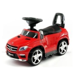 Толокар каталка Mercedes GL63 AMG - SXZ1578-E красный (колеса резина, кресло кожа, музыка, свет)